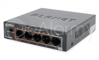 FSD-504HP 5-portowy switch PoE dla 4 kamer IP, 4x PoE + 1x UPLINK PLANET