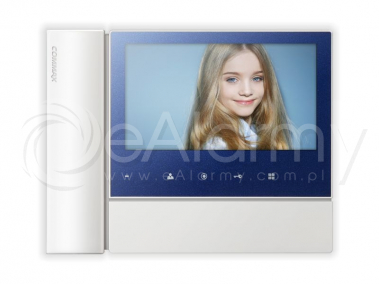 "CDV-70N2(DC) BLUE Monitor kolorowy 7"", interkom, obsługa dwóch wejść COMMAX"