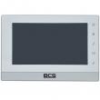 BCS-MON7210W Monitor wideodomofonowy głośnomówiący BCS IP, obudowa srebrno-biała