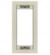 Ramka stalowa jednopozycyjna /03X5001/ - kolor srebrny metaliczny MIFON
