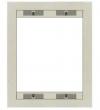 Ramka stalowa dwupozycyjna /03X5002/ - kolor srebrny metaliczny MIFON