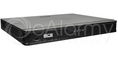 BCS-P-NVR1602-4K-8P Rejestrator sieciowy 4K, 16 kanałów IP, 2x HDD, switch PoE BCS POINT