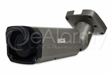 BCS-P-444RSA-G Kamera tubowa IP 4.0 Mpx, 2.8-12mm, zasięg IR do 30m, kolor grafitowy BCS POINT