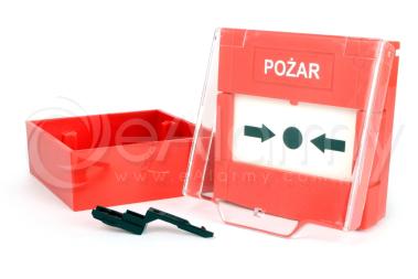 APPK Natynkowy przycisk awaryjnego otwarcia drzwi, czerwony Yotogi