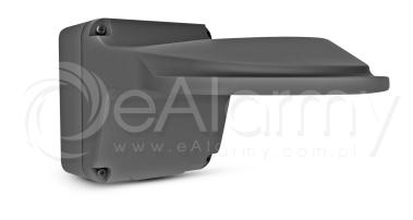 BCS-P-UA112M-G Grafitowy chwyt ścienny z puszką dla małych kamer kopułowych BCS POINT