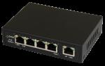 S54 5-portowy switch PoE dla 4 kamer IP, 4x PoE + 1x UPLINK Pulsar