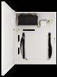 S98-CR 9-portowy switch PoE dla 8 kamer IP, 8x PoE + 1x UPLINK, miejsce na DVR, metalowa obudowa Pulsar