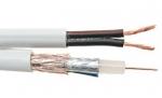 Przewód koncentryczny + zasilający K-60+2x0,5 - [100 mb]