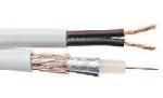 Przewód koncentryczny + zasilający K-60+2x0,75 mm2 [100 mb]