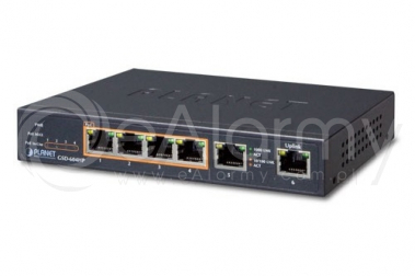 GSD-604HP 6-portowy switch PoE dla 4 kamer IP, 4x PoE + 2x UPLINK PLANET