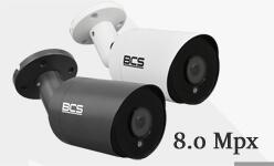 Kamera BCS 8.0 Mpx. Seria urządzeń wysokiej rozdzielczości HDCVI, HDTVI, AHD