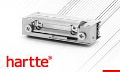 Elektrozaczep 24V Hartte. Seria XS zaczepów symetrycznych do różnych zastosowań.
